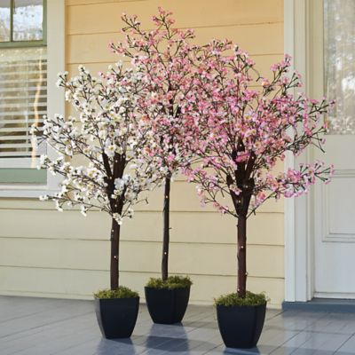 Pre-Lit Artificial Peach Blossom Trees
