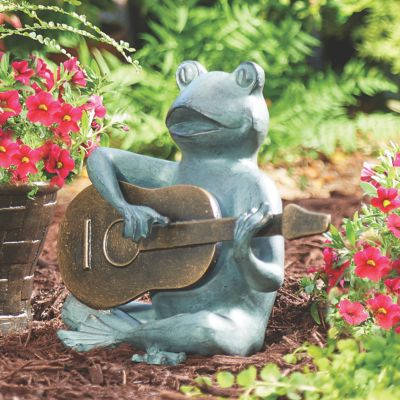 Frog Playing Guitar Garden Statue