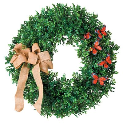 "24"" Butterfly Boxwood Wreath"