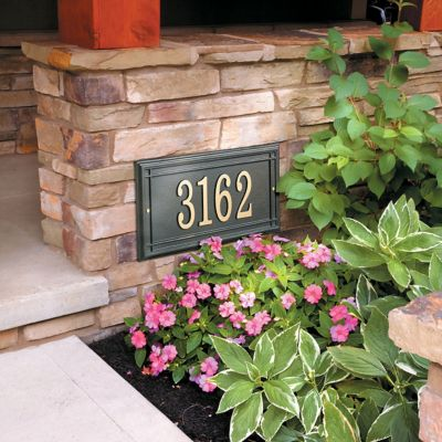 Barrington Rectangle Address Plaques
