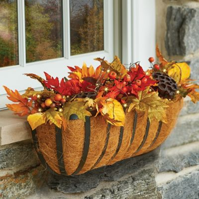 Autumn Mums and Sunflowers Fall Window Box Filler