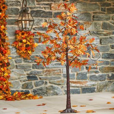 Oak Leaf Lighted Tree Fall Decoration