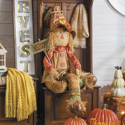 "62"" Friendly Harvest Scarecrow Fall Decoration"
