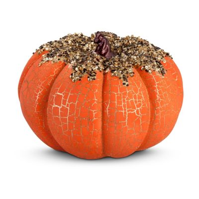 Orange Beaded Fall Pumpkin Decoration