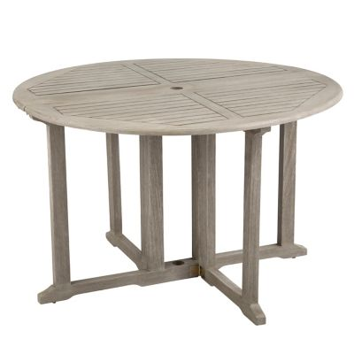 "48"" Eucalyptus Round Folding Patio Table"