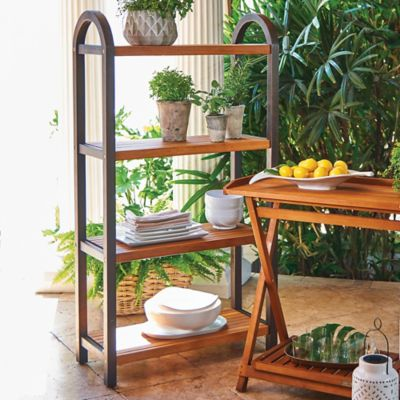 4-Tier Wooden Outdoor Shelf