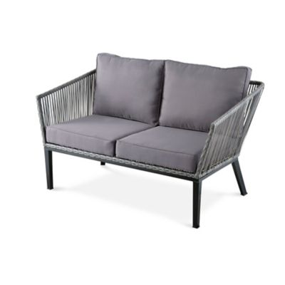 Bertolia Mid-Century Modern Loveseat with Cushions