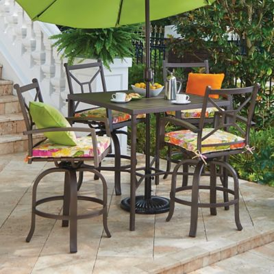 Ellicott Metal High-Top Dining Table & Bar Stools