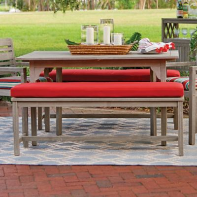 Eucalyptus Outdoor Backless Bench