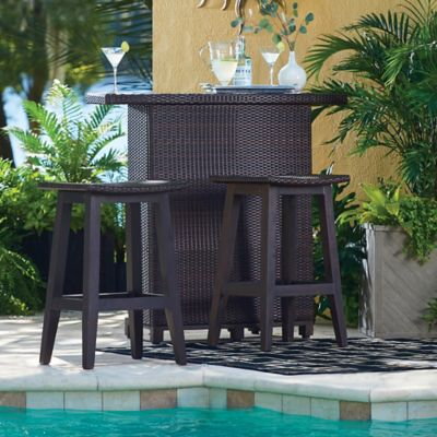 3-Piece Montego Bay Resin Wicker Outdoor Bar Set