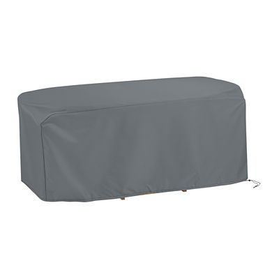 Platinum Lux Oval/Rectangle Table Cover-72""