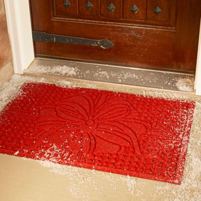 Water Guard Holiday Bow Christmas Door Mat