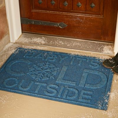 Water Guard Baby It's Cold Christmas Door Mat