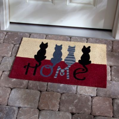 Cats Home Coir Door Mat