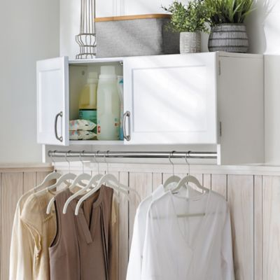 Wall Mounted Storage Cabinet with Hanging Bar