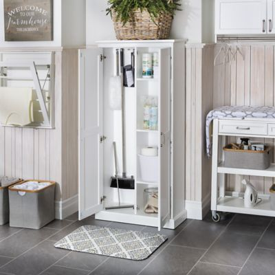 Slim Cleaning Storage Cabinet with Doors