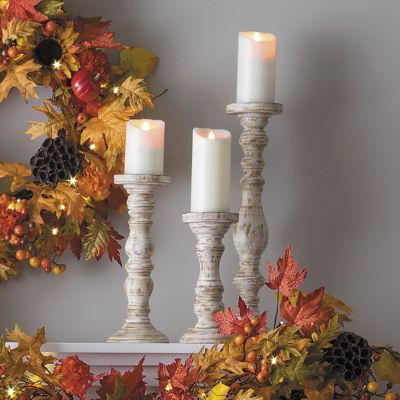 Farmhouse Candle Holders-Set of 3
