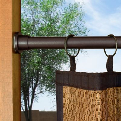 "Indoor/Outdoor Tension Curtain Rods-1"" Diameter"