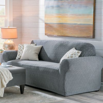 Stretch Ogee Furniture Slipcover