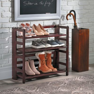 4-Shelf Folding Shoe Rack