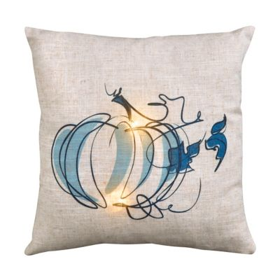 Pumpkin Lighted Decorative Throw Pillow