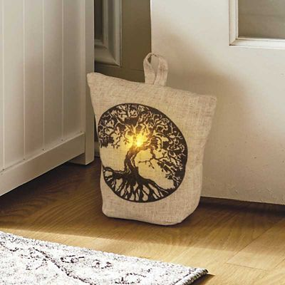 Tree of Life Lighted Decorative Door Stopper