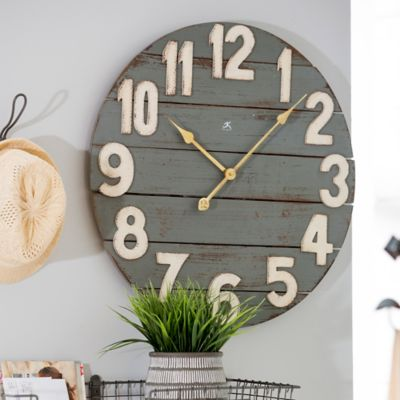 "24"" Farmhouse Wood Wall Clock"
