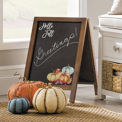 Hello Fall Wooden Calkboard Sign