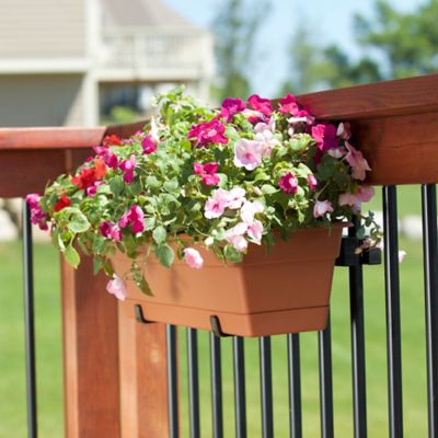 Standard Railing Planter with Mounting Brackets