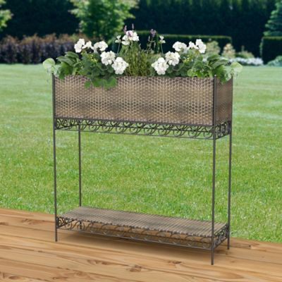 Resin Wicker Raised Garden Planter