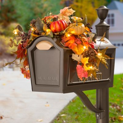 Acadia Autumn Leaves Mailbox Swag Fall Decor
