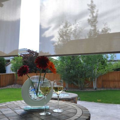Corded Clutch Roll-Up Solar Shades with Valance