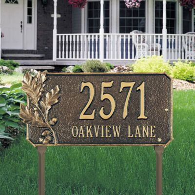 Oak Leaf Address Plaques