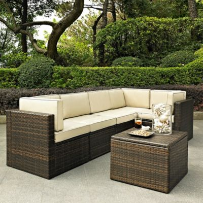Palm Harbor Resin Wicker Sectional Furniture