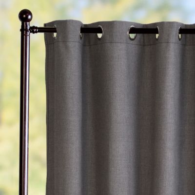 Sunbrella Outdoor Curtain Panel-Cast Slate