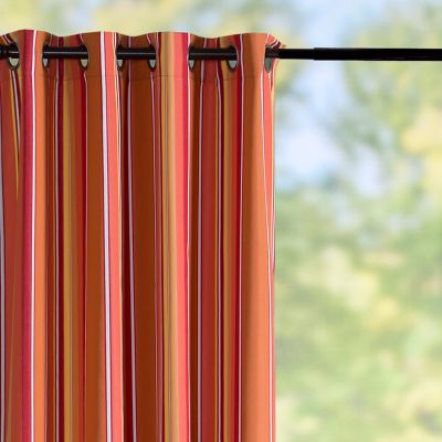 Sunbrella Outdoor Curtain Panel-Dolce Mango Stripe