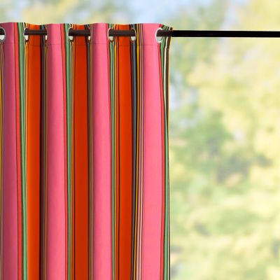 Sunbrella Outdoor Curtain Panel-Icon Pop Stripe