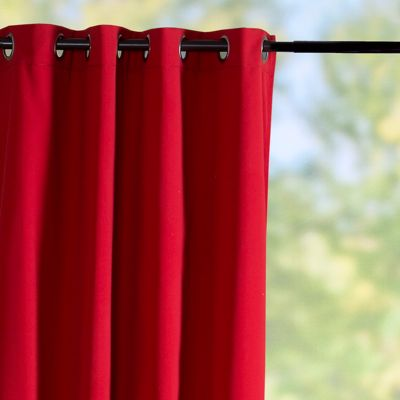 Sunbrella Outdoor Curtain Panel-Logo Red