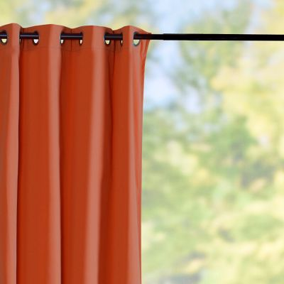 Sunbrella Outdoor Curtain Panel-Terra Cotta