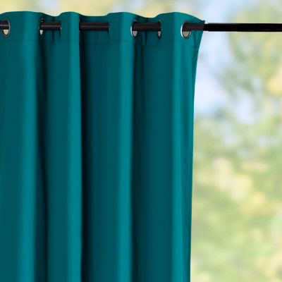 Sunbrella Outdoor Curtain Panel-Teal