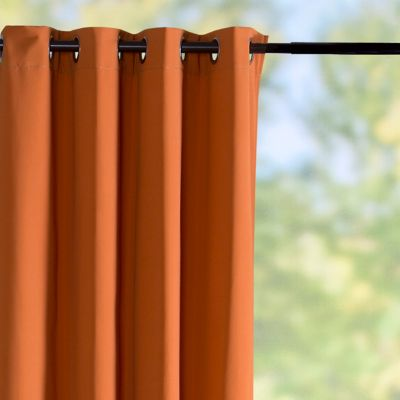 Sunbrella Outdoor Curtain Panel-Tuscan Orange
