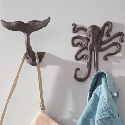 Seaside Cast Iron Wall Hooks