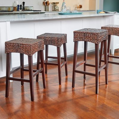 Water Hyacinth Bar Stools-Set of 2