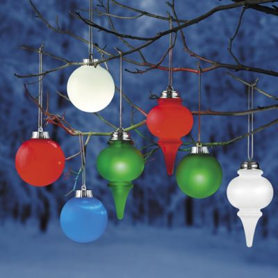 Illuminated Outdoor Christmas Ornaments