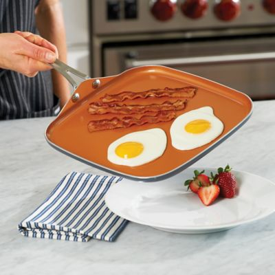 Gotham Steel Square Non-Stick Griddle & Deep Grill