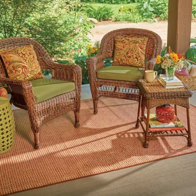 Hampton Hill 3 Piece Resin Wicker Arm Chair