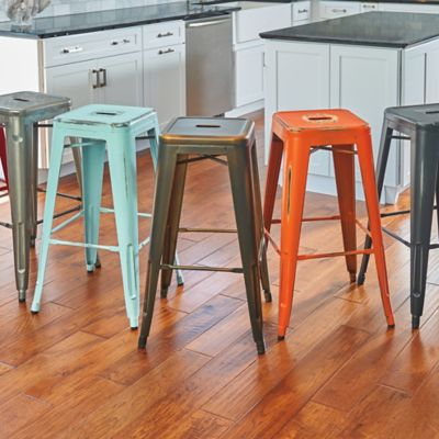 Alfresco Metal Bar Stools-Set of 2