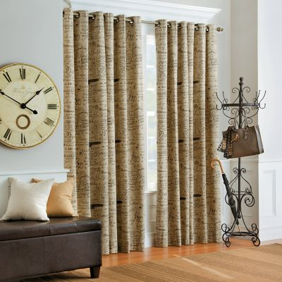 Thermalogic French Script Insulated Thermal Curtains