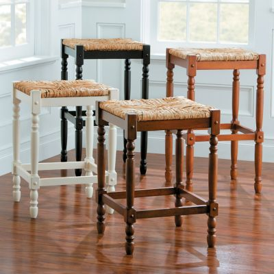 Townsend Oversized Rush Bar Stools