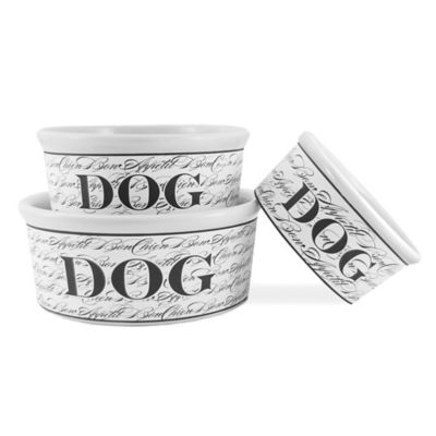 Bon Chien Ceramic Dog Bowl